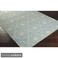 Hand-woven Carlotta Flatweave Wool Area Rug - 2'6 x 8'