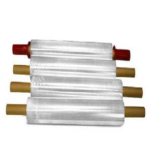 Stretch Wrap with Pre-attached Handles 1000 Feet Long x 20 Inches Wide, 80 Ga - (72 Cases) 288 Rolls