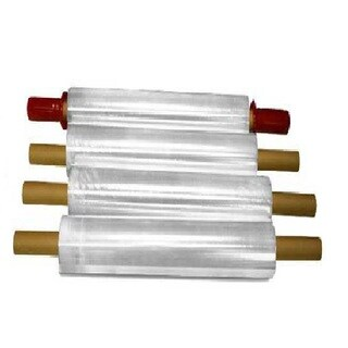 Stretch Wrap with Pre-attached Handles 1000 Feet Long x 15 Inches Wide 90 Ga - (10 Cases) 40 Rolls