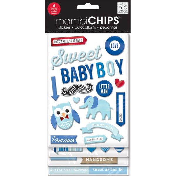 Chipboard Value Pack-Sweet Baby Boy