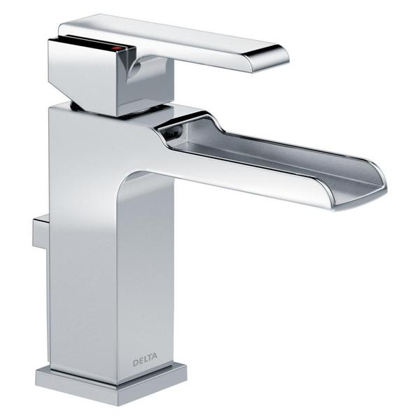 Bathroom Faucets Delta delta ara single-handle single-hole lavatory faucet with channel
