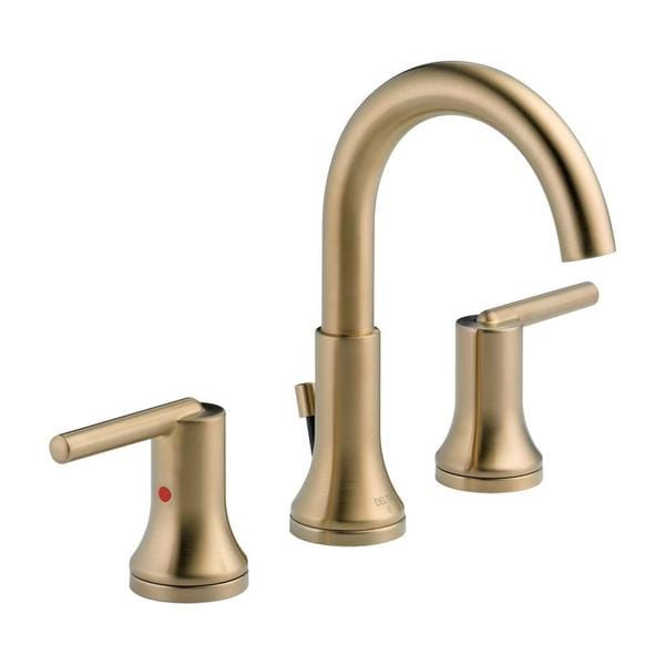 Delta Trinsic Two Handle Widespread Lavatory Faucet 3559 Czmpu Dst Champagne Bronze