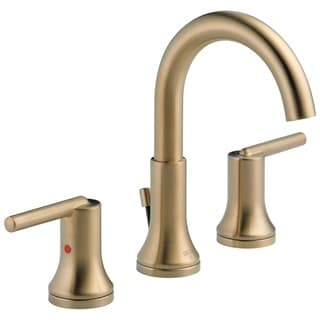 Delta Trinsic Widespread Bath Faucet with Metal Pop-Up in Champagne Bronze