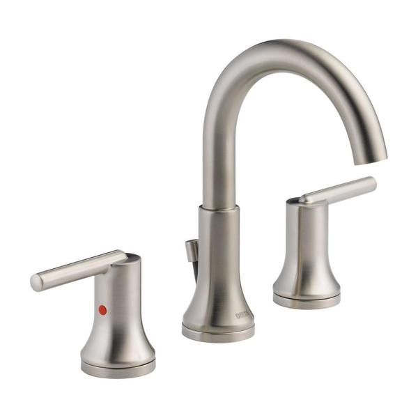 Delta Trinsic Widespread Bath Faucet With Metal Pop Up In Brilliance Stainless Free Shipping