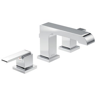 Delta Ara Chrome Two Handle Widespread Bathroom Faucet
