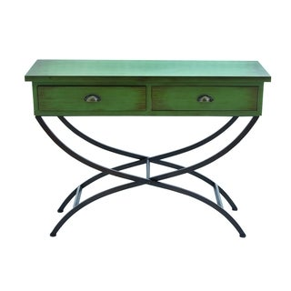 Metal Wood Table Curved Metal Legs