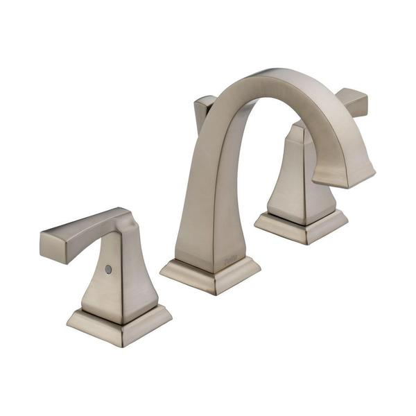 Shop Delta Dryden Two Handle Widespread Lavatory Faucet 3551LF-SS Stainless