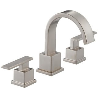 Delta Vero Brilliant Stainless Steel Double-handle Widespread Lavatory Faucet