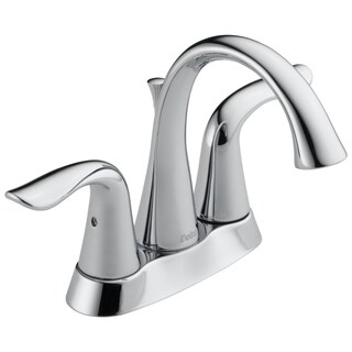 Delta Lahara Double-handle Centerset Lavatory Faucet in Chrome
