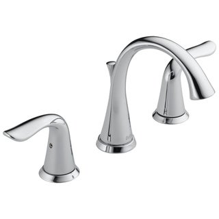 Delta Lahara Double-handle ADA-compliant Widespread Lavatory Faucet in Chrome