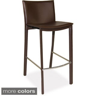 Aurelle Home Carisma Leather Bar stool