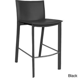Aurelle Home Carina Modern Leather Counter Stool