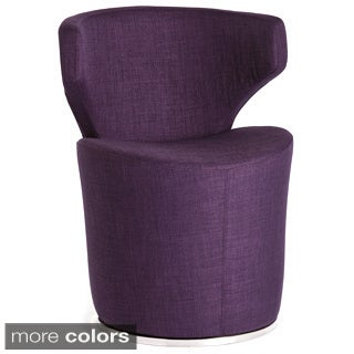 Aurelle Home Cylindar Upholstered Swivel Lounge Chair