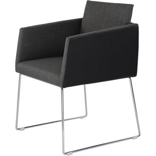 Aurelle Home Kvadrat Dark Grey Modern Arm Chair