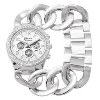 Geneva Platinum Rhinestone Bracelet Watch|https://ak1.ostkcdn.com/images/products/9531058/P16710556.jpg?impolicy=medium
