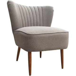 Aurelle Home Max Grey Club Chair (Set of 2)