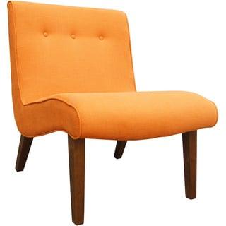 Aurelle Home Orange Lounge Chair (Set of 2)