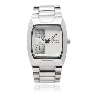 Geneva Platinum Men's Multi-time Zone Style Link Watch