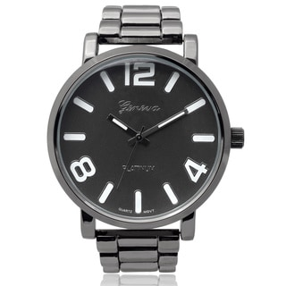 Geneva Platinum Men's Round Face Quartz Link Watch