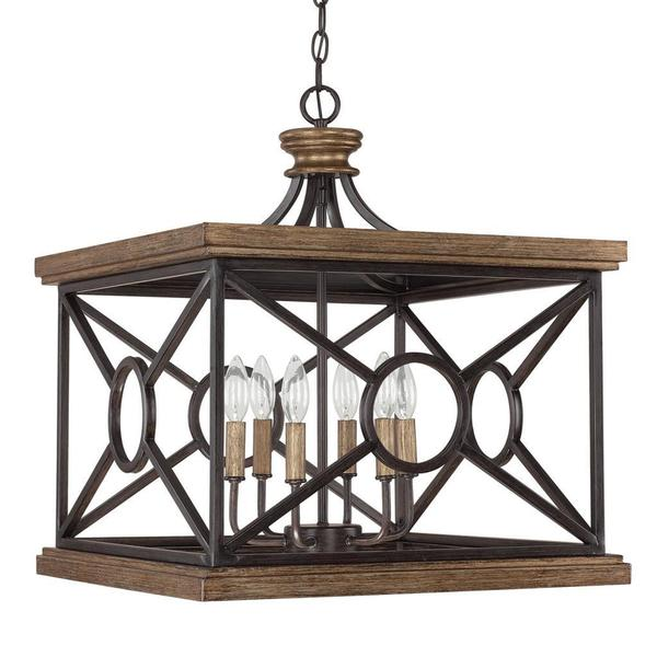 Capital Lighting Landon Collection 6-light Surry Rectangular Foyer Pendant