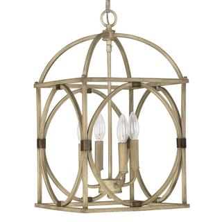 Capital Lighting Traditional French Oak 4-light Foyer Pendant Chandelier