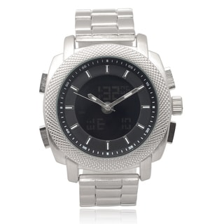 Geneva Platinum Men's Dual Time Zone Link Watch