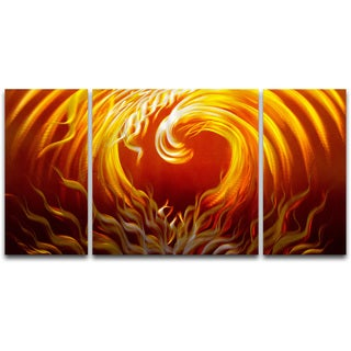 Passion Burns' 3-piece Metal Wall Art