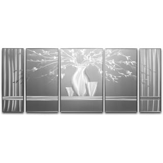 Plant by the Window' 5-piece Metal Wall Art