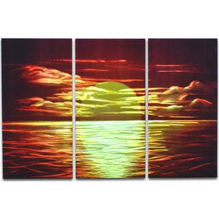Red Sunset' 3-piece Metal Wall Art