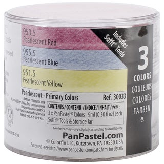 PanPastel Pearlescent Artist Pastels Set 9ml-Primary (Red, Blue and Yellow)