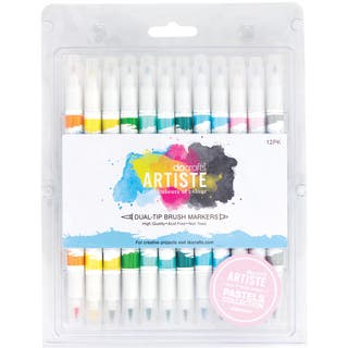 Artiste Dual Tip Brush Markers 12/Pkg-Pastel|https://ak1.ostkcdn.com/images/products/9531245/P16711348.jpg?impolicy=medium
