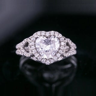 Heart Diamond Rings For Less Overstock