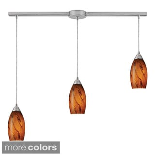 Galaxy 3-light Satin Nickel Pendant