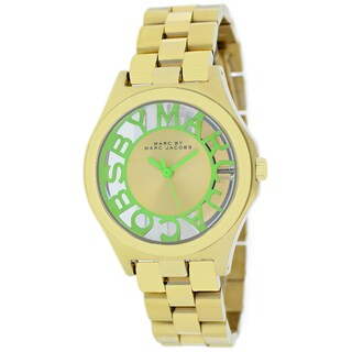 Marc Jacobs Women's MBM3295 Henry Skeleton Mint Goldtone Watch