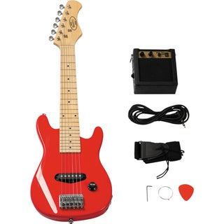 30-inch Electric Guitar Set with 5-watt Amplifier (Option: Red)