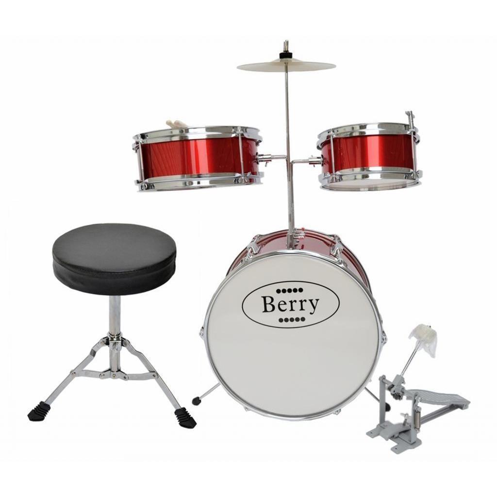 Merske Berry Toys Kids Medium Drum Set (Red)