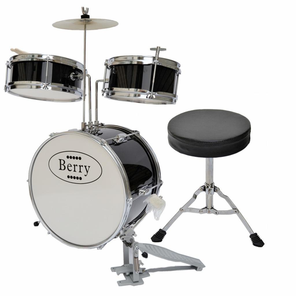 Merske Berry Toys Kids Medium Drum Set (Black)
