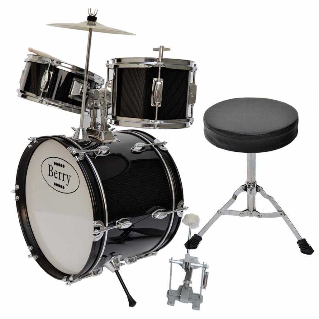 Merske Berry Toys Kids Large Drum Set (Black)