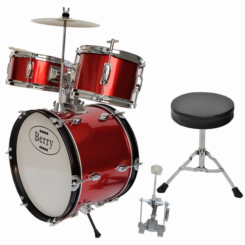 Merske Berry Toys Kids Large Drum Set (Red)