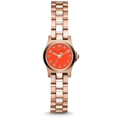 Marc Jacobs Women's MBM3311 Henry Dinky Red Dial Rosetone Watch