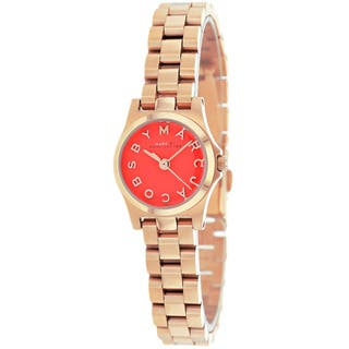 Marc Jacobs Women's MBM3311 Henry Dinky Red Dial Rosetone Watch|https://ak1.ostkcdn.com/images/products/9531395/P16709714.jpg?impolicy=medium