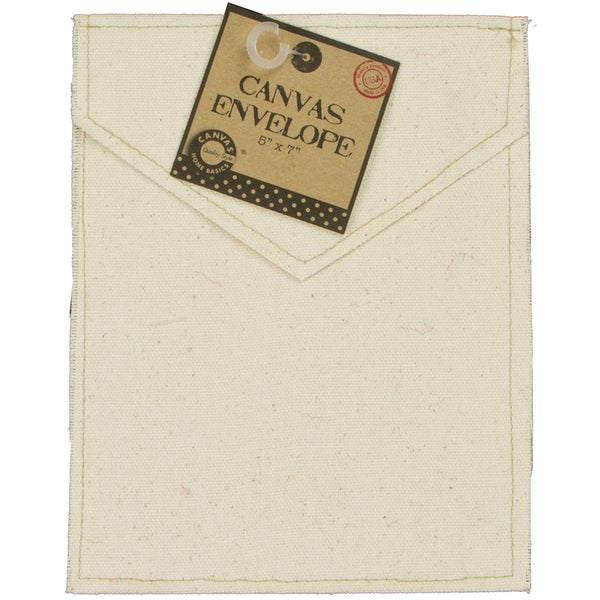 "Canvas Vertical Envelope 5""X7""-Natural"