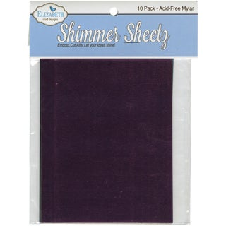 "Metallic Mylar Shimmer Sheetz Sampler 5""X4"" 10/Pkg-Multicolor"
