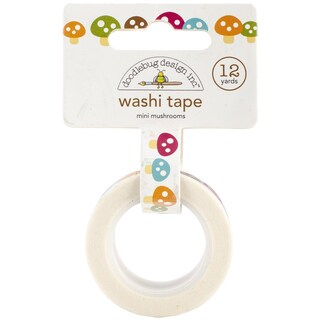 Happy Camper Washi Tape 15mmX12yd-Mini Mushrooms