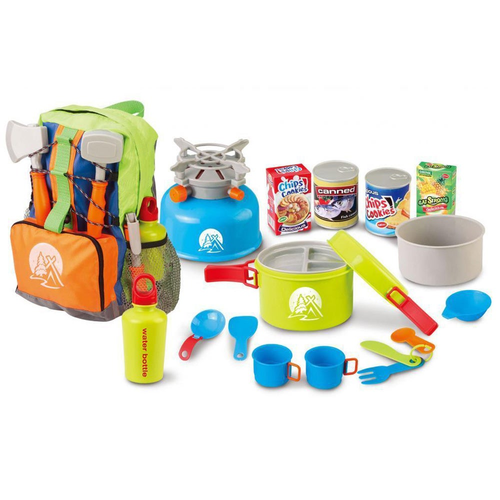 Berry Toys Little Explorer Camping Backpack Cooker 13 Piece Play Set Overstock 9531490