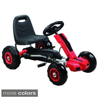 Power Pedal Go-Kart with Pneumatic Tires (Option: Red)
