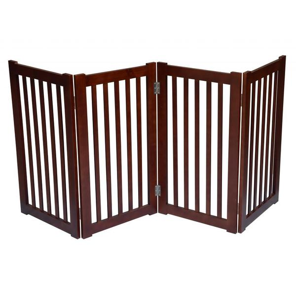 Shop Free Standing 72 X 32 Inch 4 Panel Wooden Pet Gate