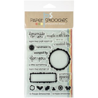 """Paper Smooches 4""""X6"""" Clear Stamps-Just For You"""