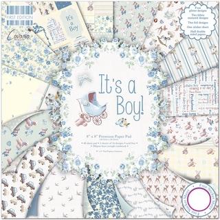 "First Edition Premium Paper Pad 8""X8"" 48/Pkg-It's A Boy"