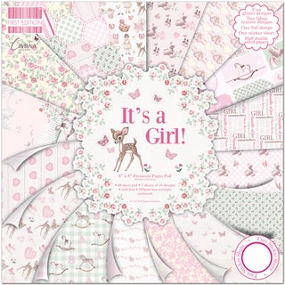 "First Edition Premium Paper Pad 8""X8"" 48/Pkg-It's A Girl"